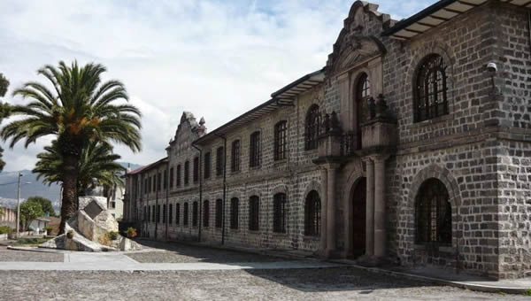 The Aurelio Espinosa Pólit Museum and Library in Quito Ecuador