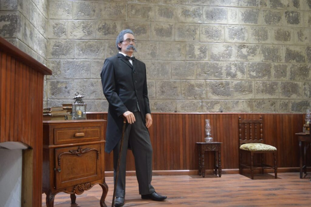 Juan Benigno Vela Wax Statue