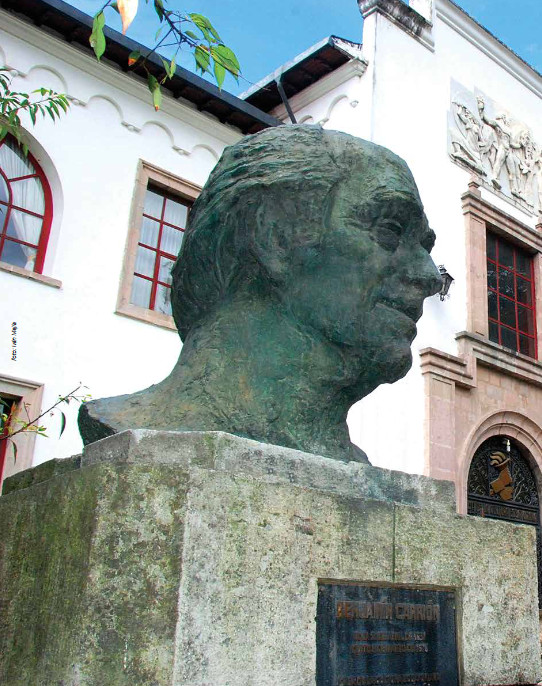 A bust of Benjamín Carrión in Quito, Ecuador.