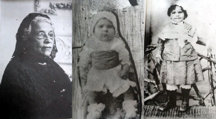 Mariana Rodas Moreira, mother (1949) and Silva as a child. Photos from a book by Abel Romeo Castillo.