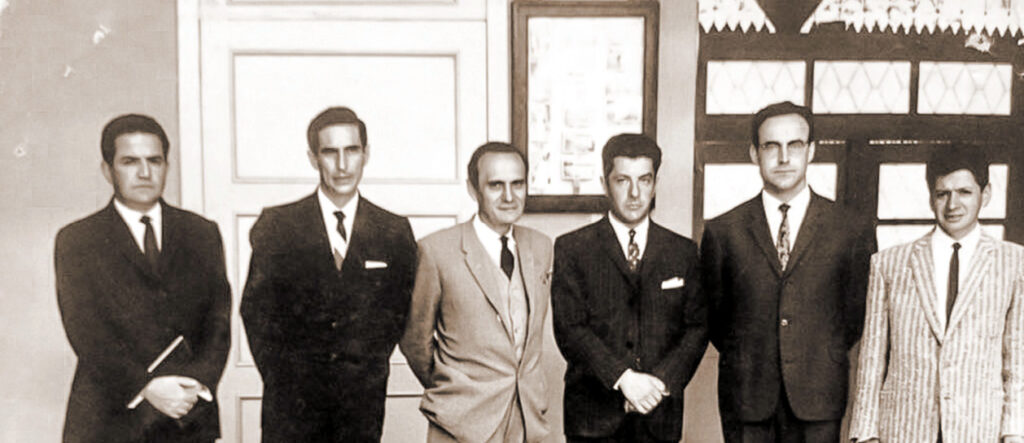 Eugenio Moreno Heredia, Jacinto Cordero Espinosa, Antonio Lloret Bastidas, Arturo Cuesta Heredia, José López Rueda and Efraín Jara Idrovo
